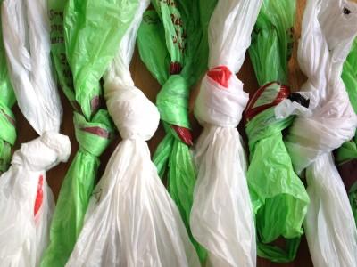 Pétrole et sacs de plastique
