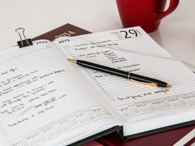 Organiser son horaire pour la semaine