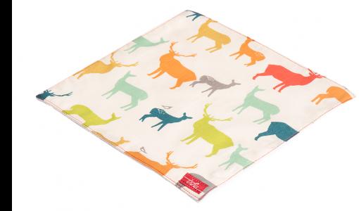 Mouchoir TSHU avec motif de cerfs multicolore pour les enfants